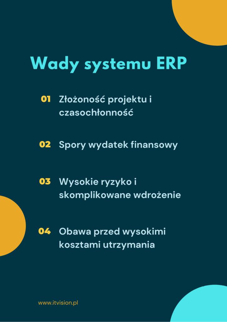 Wady systemu ERP
