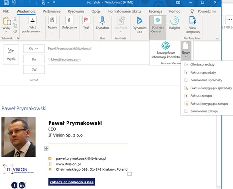 Integracja Office 365 z Dynamics 365